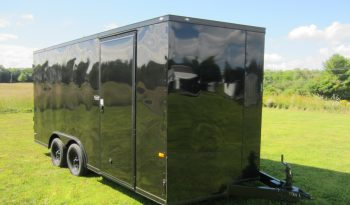 2020 Rock Solid Blackout 8.5×16 Cargo Trailer 7′ Tall full